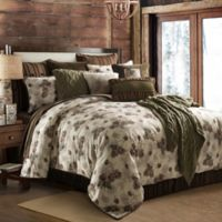 HiEnd Accents Forest Pine Queen Comforter Set in Green/White