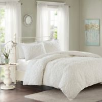 Madison Park Sabrina Full/Queen Duvet Cover Set in White