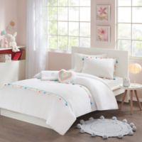 Mi Zone Kids Tessa Tassel Twin Comforter Set in White