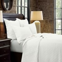HiEnd Accents Diamond Linen Reversible Quilt in White