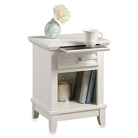 Home Styles Arts Crafts Nightstand In White Bed Bath