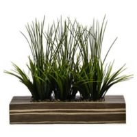 Laura Ashley® 14-Inch Tall Artificial Grass in Zebra Planter