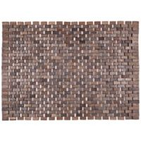 Entryways® Roosevelt Exotic Wood Door Mat in Dark Brown
