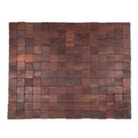 Entryways® Mather Exotic Wood Door Mat in Dark Brown