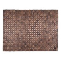 Entryways® Douglas Exotic Wood Door Mat in Dark Brown