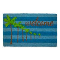"Entryways Palm Trees 17"" x 28"" Coir Door Mat"