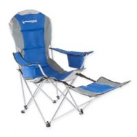 Wakeman Camp Chair with Footrest in Blue