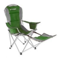 Wakeman Camp Chair with Footrest in Green