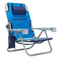 Life is Good® Folding Beach Chair with Cooler in Blue