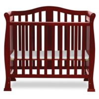 Dream On Me Naples 4-In-1 Convertible Mini Crib in Cherry