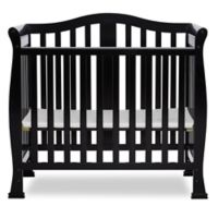 Dream On Me Naples 4-In-1 Convertible Mini Crib in Black