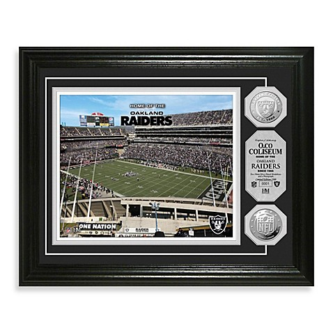 Oakland Raiders NFL® Stadium Gold Coin Photo Mint
