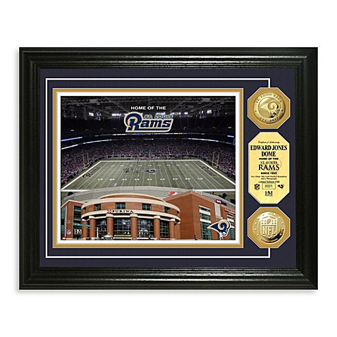 St Louis Rams NFL® Stadium Gold Coin Photo Mint