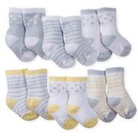 Gerber® Size 0-3M 6-Pack Wiggle-Proof Lamb Crew Socks in Grey/Yellow