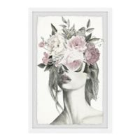 "Marmont Hill 24"" x 36"" Smokey Flower Crown Framed Wall Art"