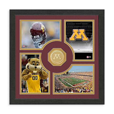 University of Minnesota Fan Memories Minted Bronze Coin Photo Frame