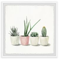 Marmont Hill Potted Succulents 32-Inch Squared Framed Wall Art