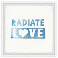 Marmont Hill Radiate Love 18-Inch Squared Framed Wall Art