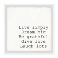 Marmont Hill Live Simply Dream Big III 18-Inch Squared Framed Wall Art