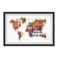 Marmont Hill The Places You'll Go 24-Inch x 16-Inch Framed Wall Art