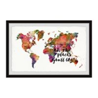 Marmont Hill The Places You'll Go 18-Inch x 12-Inch Framed Wall Art