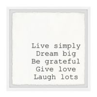 Marmont Hill Live Simply Dream Big III 12-Inch Squared Framed Wall Art