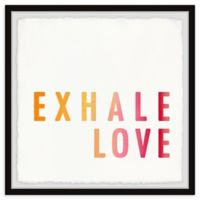 Marmont Hill Exhale Love Gold II 18-Inch Squared Framed Wall Art