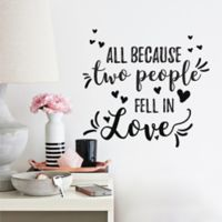 Roommates® All Because Two People Quote Wall Decals in Black