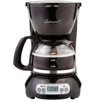 Digital 4-Cup Coffee Maker in Black