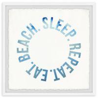 Marmont Hill Eat Beach Sleep Repeat II 24-Inch Squared Framed Wall Art
