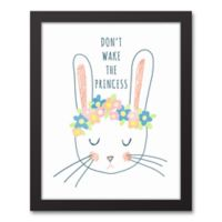 """Designs Direct """"Don't Wake The Princess"""" Framed Canvas Wall Art in Black"""