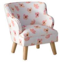 Skyline Furniture Mick Kids Chair in Pink Petals