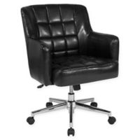 Flash Furniture Faux Leather Swivel Laone Office Chair in Black