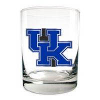 University of Kentucky 14 oz. Rocks Glass with Metallic Logo