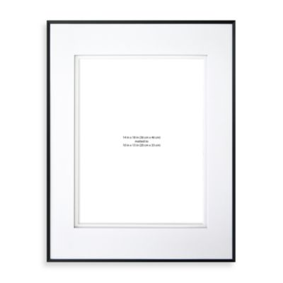 wall gallery sloped metal 14 inch x 18 inch frame in black