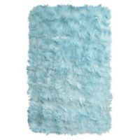 Home Dynamix Arctic Shag 2'6 x 3'11 Accent Rug in Light Blue