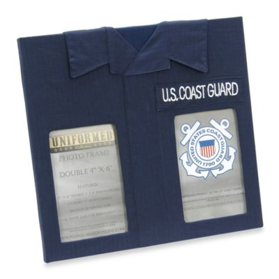 us coast guard 4 inch x 6 inch double frame
