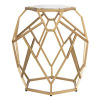 Safavieh Ava Geometric Accent Table in Gold