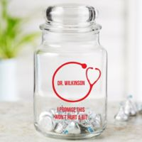Doctor Icon Personalized Treat Jar
