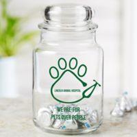 Veterinarian Icon Personalized Treat Jar