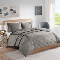 Intelligent Design Shyla Solid Reversible Twin/Twin XL Coverlet Set in Grey