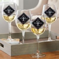 Family Winery Personalized White Wine Glass