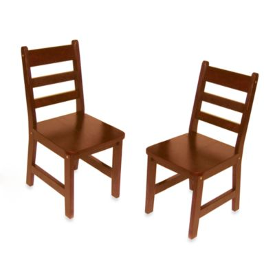 Lipper International Childu0027s Chairs In Cherry (Set Of ...