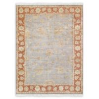 """Pasargad Home™ Oushak 9'10"""" X 13'2"""" Hand-Knotted Area Rug in Light Blue"""
