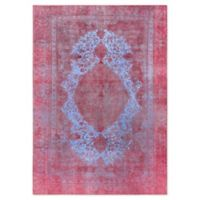 Pasargad Home™ Overdye 7'2 x 10'3 Hand-Knotted Area Rug in Blue