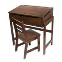 Lipper International Slanted Top Desk & Chair – Walnut