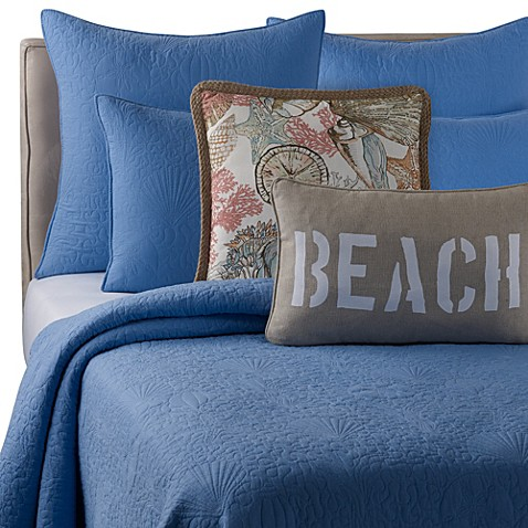 Solid Seashell Blue Quilt Bed Bath Beyond