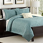 Medallion 5-Piece Reversible Full/Queen Quilt Set in Teal
