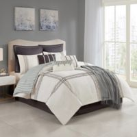 Isa 10-Piece Reversible Full Comforter Set in Grey
