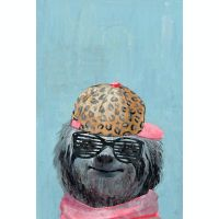 Marmont Hill Hipster Sloth 8-Inch x 12-Inch Canvas Wall Art